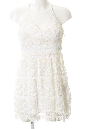 Hollister Spitzenkleid wollweiß-weiß Blumenmuster Romantik-Look
