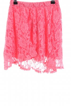 Hollister Kanten rok roze bloemenprint elegant