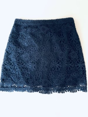 Hollister Lace Skirt dark blue polyester