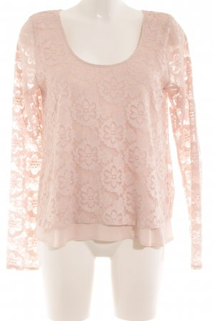Hollister Top de encaje rosa empolvado look casual