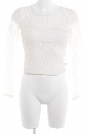 Hollister Lace Top cream vintage look