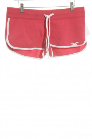 Hollister Sport Shorts white-raspberry-red skater style
