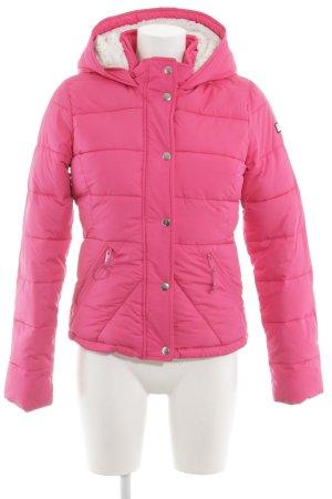 Hollister Veste matelassée rose motif de courtepointe style décontracté