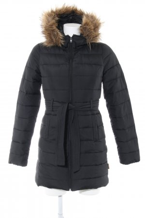 Hollister Quilted Coat black quilting pattern casual look