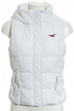 Hollister Quilted Gilet white quilting pattern casual look