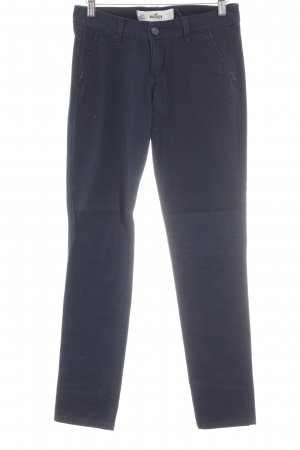 Hollister Stoffen broek donkerblauw casual uitstraling