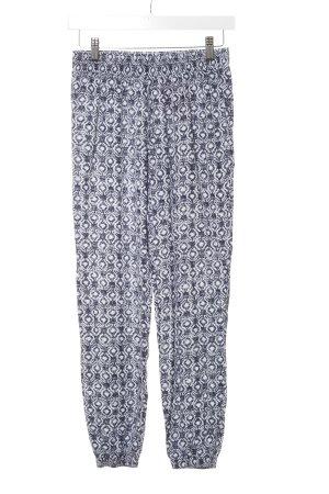 Hollister Stoffhose dunkelblau-weiß abstraktes Muster schlichter Stil