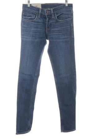 Hollister Jeans met rechte pijpen donkerblauw casual uitstraling