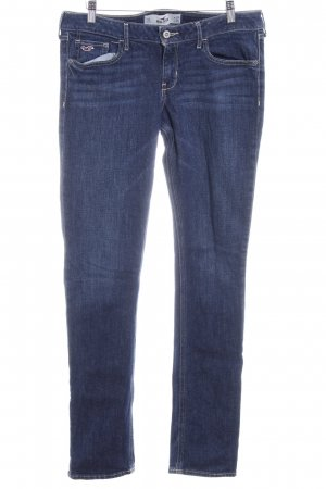 Hollister Straight-Leg Jeans dunkelblau Casual-Look