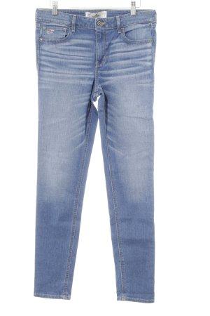 Hollister Straight-Leg Jeans kornblumenblau-wollweiß Casual-Look