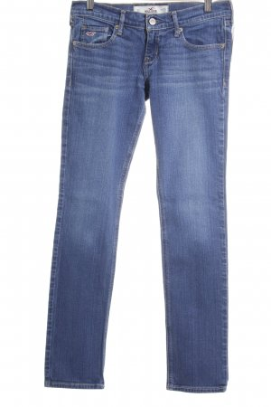 Hollister Straight-Leg Jeans stahlblau Jeans-Optik