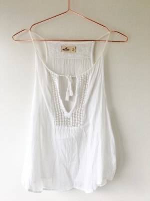 Hollister Top cut-out bianco Tessuto misto