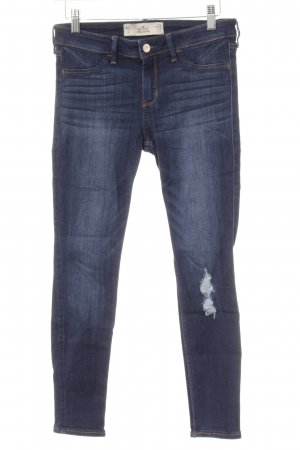 Hollister Stretch Jeans dunkelblau Jeans-Optik