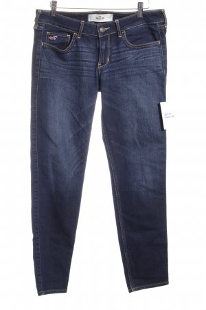 Hollister Stretch Jeans dunkelblau Jeans-Optik