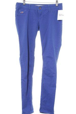 Hollister Stretchhose blau Casual-Look