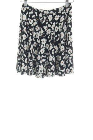Hollister Stretchrock schwarz-weiß Blumenmuster Casual-Look