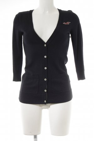 Hollister Strick Cardigan dunkelblau Casual-Look