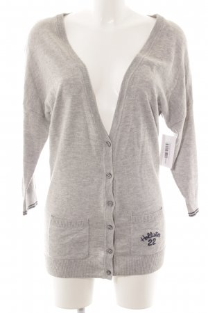 Hollister Strick Cardigan hellgrau Casual-Look