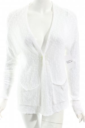 Hollister Strick Cardigan weiß Beach-Look