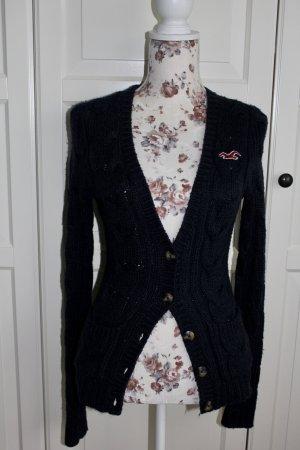 Hollister Veste tricotée en grosses mailles bleu foncé
