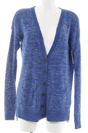 Hollister Strickjacke blau-himmelblau meliert Casual-Look