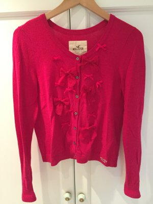 Hollister Strickjacke/Cardigan in pink mit Schleifen in Gr. M / L