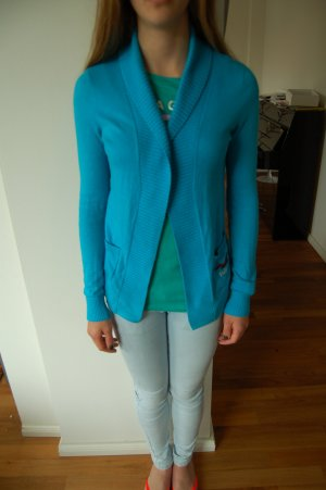 Hollister Strickjacke Gr. XS in Aguablau