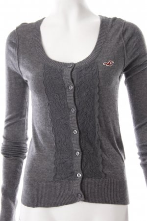 Hollister Strickjacke grau Casual-Look