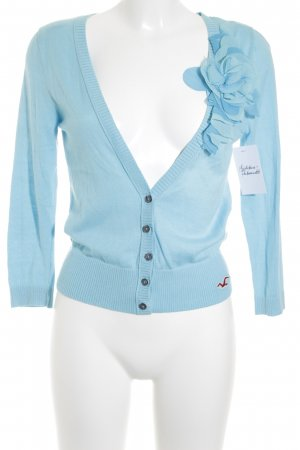 Hollister Strickjacke türkis Casual-Look