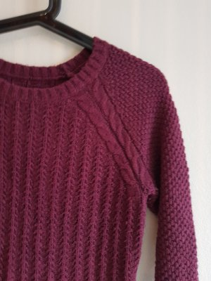Hollister Strickkleid bordeaux