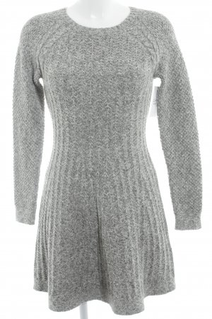 Hollister Strickkleid hellgrau meliert Casual-Look