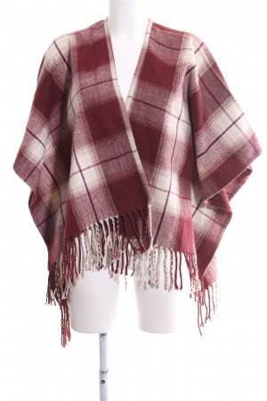 Hollister Knitted Poncho red-natural white allover print casual look