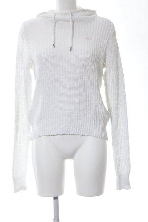 Hollister Pull tricoté blanc style décontracté