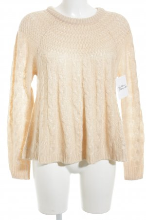 Hollister Strickpullover apricot Casual-Look