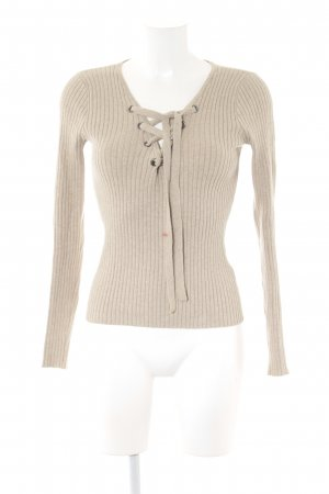 Hollister Strickpullover beige Casual-Look
