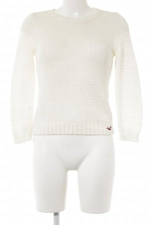 Hollister Strickpullover creme Casual-Look