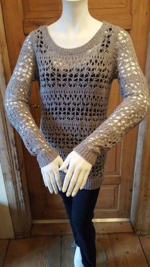 Hollister Pull en laine argenté laine