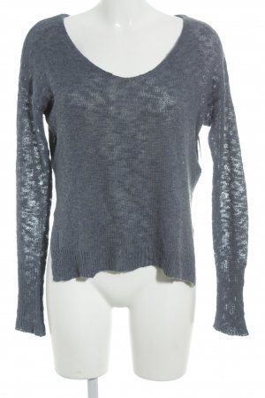 Hollister Strickpullover graublau Casual-Look