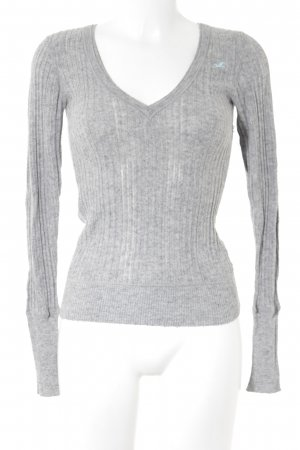 Hollister Strickpullover hellgrau Casual-Look