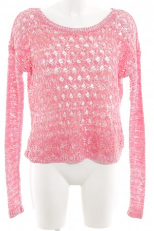 Hollister Knitted Sweater pink cable stitch casual look