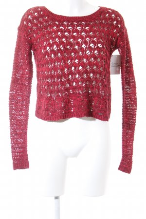 Hollister Strickpullover rot-karminrot Casual-Look