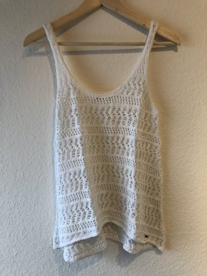 Hollister Crochet Top white cotton