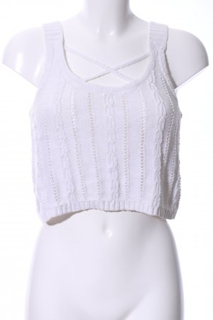 Hollister Knitted Top white cable stitch casual look