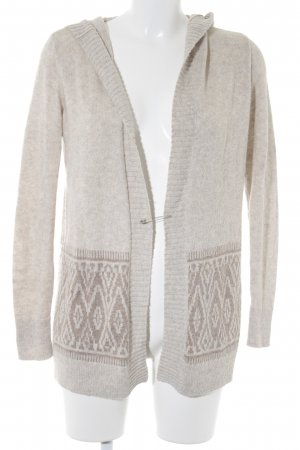 Hollister Strickweste creme-hellbraun Ethnomuster Casual-Look