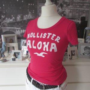 Hollister * Süßes Beach-Sommer Shirt ALOHA * pink-weiß Logoprint *S=34/36