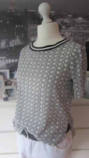 Hollister * Süßes Viskose Blusen Shirt * schwarz-weiß Retro-Style * S=36/38