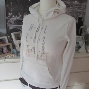 Hollister * %Summer SALE% Leichter Kapuzen Sweater * creme Logostitching * XS=34/36