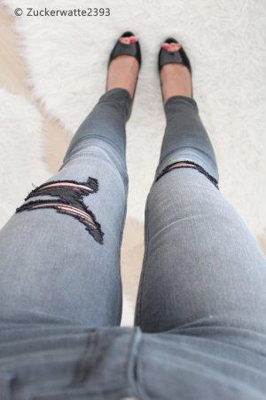 Hollister Super Skinny Jeans Grau W 24 L 28 Gr 0