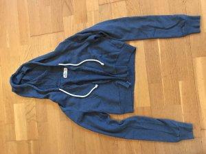 Hollister Chaqueta de tela de sudadera azul acero