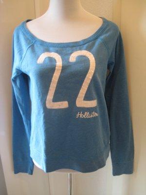 Hollister Sweater Pulli Blau Gr S UBoot Ausschnitt